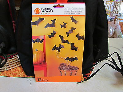 Martha Stewart Halloween Bats Silhouettes ~ 12 Pieces ~ Mint in the Package!