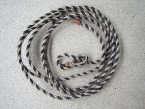 RARE~Vintage Western Braided Hitched HORSEHAIR Lead-Rope Lariat