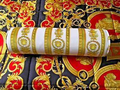 VERSACE MEDUSA BOLSTER PILLOW HERITAGE BEDDING DECOR ORIGINAL $600 ONLY 1 left