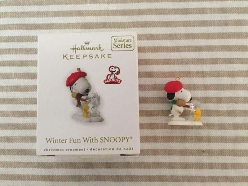 Hallmark Keepsake Ornament 2010 Winter Fun With Snoopy Miniature