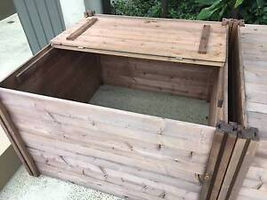 Wooden timber compost bin Bowen Hills Brisbane North East Preview