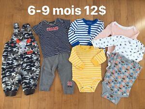 Vêtement garçon 6-9 mois
