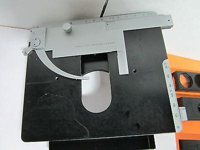 Microscope Dialux Leitz Wetzlar Germany Stage Micrometer Table Optics Bink8i
