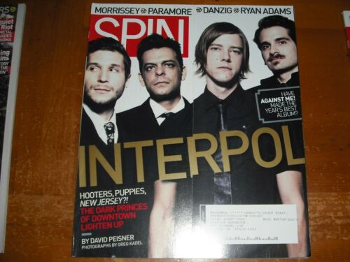 INTERPOL MAGAZINE SPIN AUGUST 2007 morrissey paramore danzig ryan adams