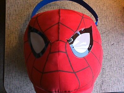 Easter Basket Halloween Costume (Spider-man Halloween Costume Easter Plush Basket Bag Bucket)