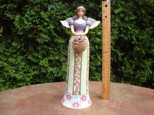 "Heartwood Creek Jim Shore Basket of Beauties 11"" Resin Figurine #4007668 (2006)"