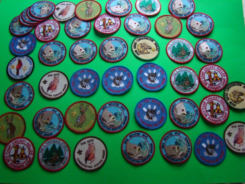 Mix Lot of 45 Vintage Scout Patches