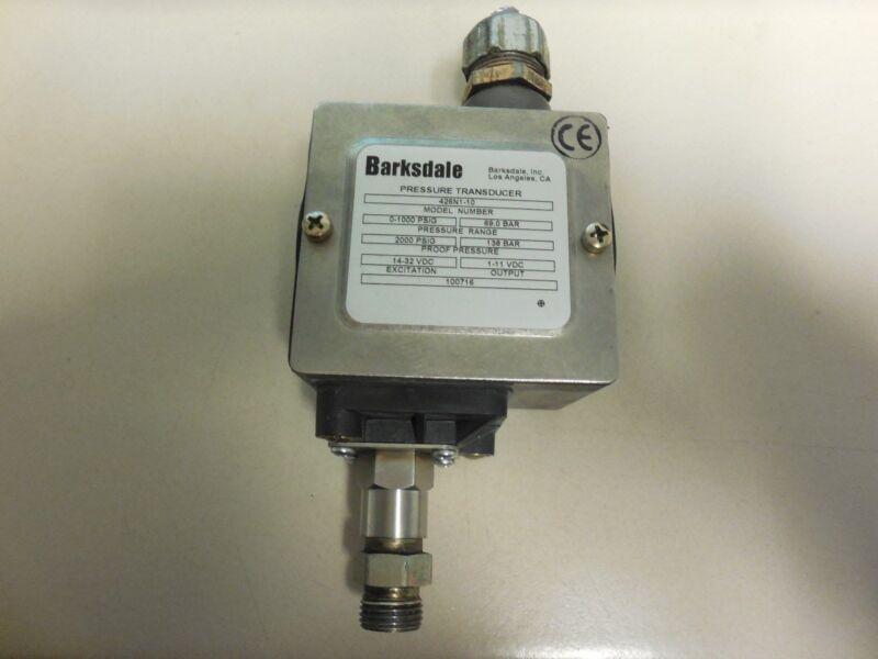 BARKSDALE PRESSURE TRANSDUCER 426N1-10 USED R6