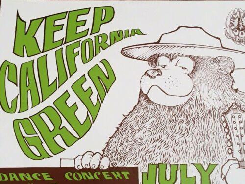 Rare 420 Keep California Green Avalon Ballroom Family Dog FD16 Mary Jane Poster