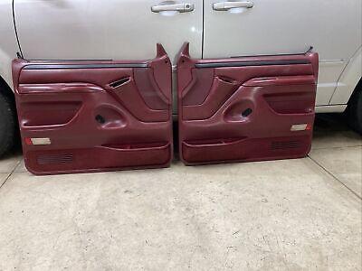 92-96 FORD F150  DOOR PANELS RED BURGUNDY 92-96 F150/250 DOOR PANELS RED NICE!