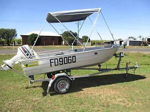 3.5 meter Stessco aluminium boat on trailer with outboard Alloway Bundaberg Surrounds Preview