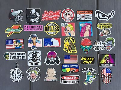 Welder 30 Hard Hat Stickers Toolbox Decals Welding Helmet Hood Weld