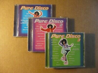 PURE DISCO - Vol. 1,2 & 3  (3 CD Set) 63 Tracks, Donna Summer, ABBA, Blondie