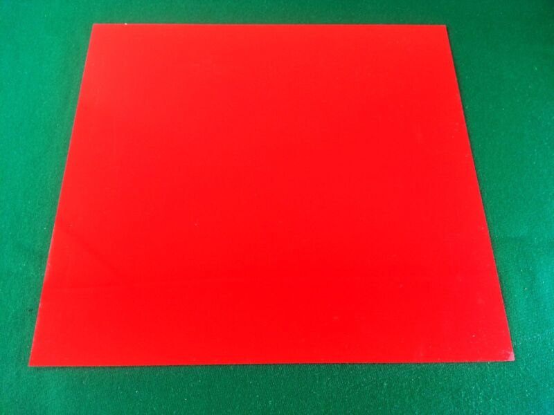 """2 PCS .031 """" RED PLASTIC COLORED SHEETS FOR KNIFE HANDLE SPACER LINER"""