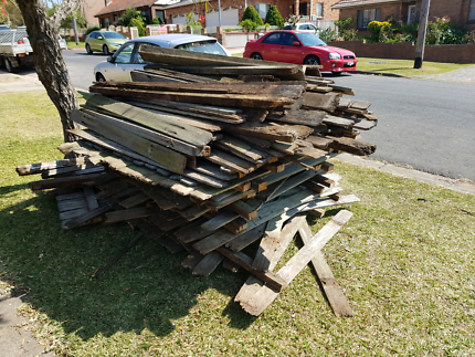Free firewood old paling fence free fire wood