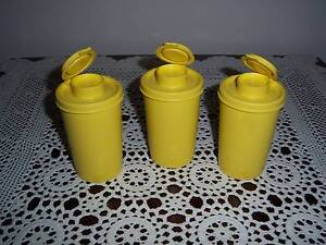 Retro Vintage Tupperware Modular Mates Spice Containers S & P East Cannington Canning Area Preview
