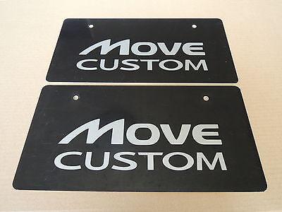 JDM DAIHATSU MOVE CUSTOM Original Dealer Showroom Display License Plates Pair