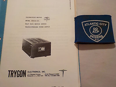 Trygon Phr20-5b Half Rack Module Power Supply Instruction Manual