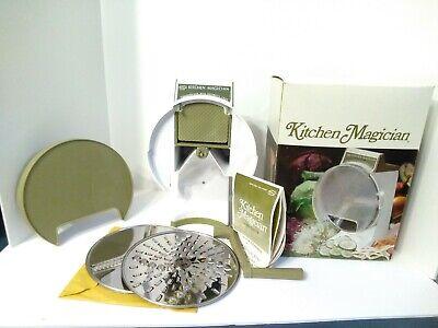 Popeils Kitchen Magician Food Slicer Cutter Manual Hand Crack Food Processor