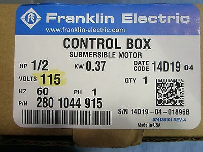 12 Hp 115v Franklin Qd Control Box Submersible Water Pump 2801044915 New