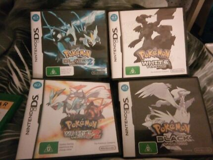 Pokemon DS Games Black and White and Black 2 and White 2 Nintendo