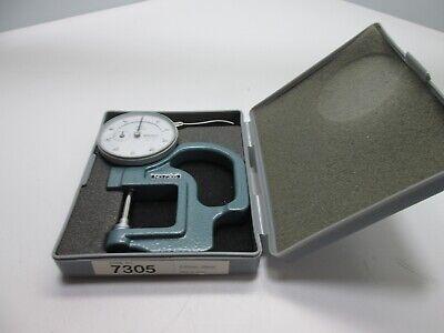 Mitutoyo 7305 Metric Dial Indicator Thickness Gauge 0-20mm Range
