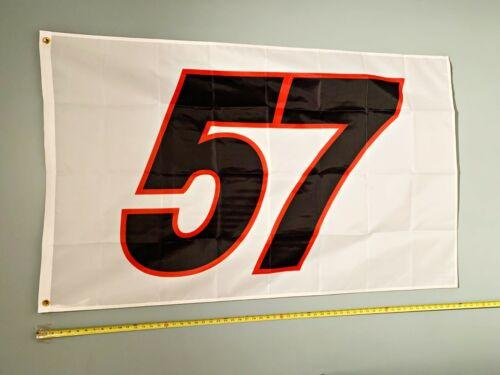 KYLE LARSON *FREE SHIP USA SELLER!* White #57 Nascar Sprint Car Poster Sign 3x5