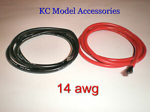 14 AWG Black- Red Silicone Wire 2m Lipo Battery Cable Good Quality UK Seller.