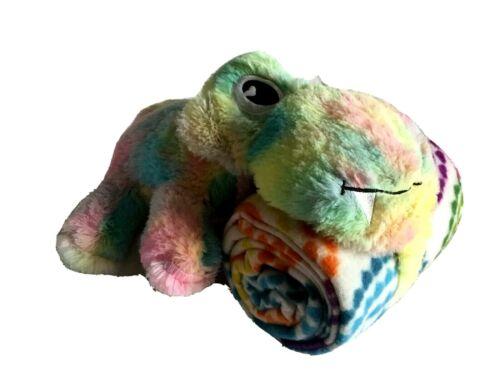 Pastel Tie Dye HIPPO / HIPPOPOTAMUS Plush Hugger Toy & Throw Blanket Set *NWOT*