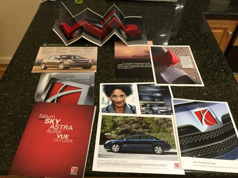 Lot of 10 Saturn (General Motors) Car Brochures, 1991/92 and 2008