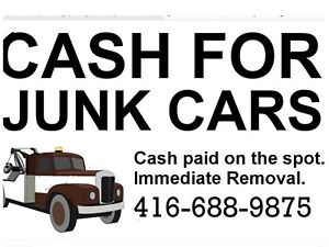 TOP✅$$CASH$$✅FOR SCRAP CARS AND USED CARS CALL 416-688-9875