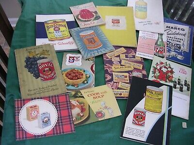 #BA Vintage ANTIQUE Lot 14 Advertising Paper Ephemera Cookbooks ROYAL CALUMET +