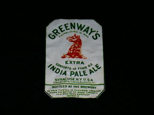 GREENWAY`S INDIA PALE ALE T-SHIRT--XL--BLACK--PREOWENED