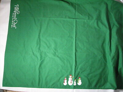 Tablecloth With Logo (Pampered Chef Christmas Snowmen Green Tablecloth with)