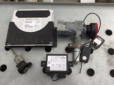 MERCEDES SLK R170 ENGINE ECU IGNITION BARREL DOOR LOCK KEY SET A0001532179