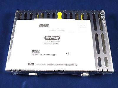 Dental Small Signature Series 10 Instrument Cassette Yellow Im5105 Hu Friedy