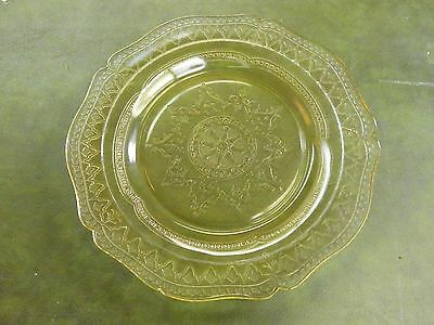"""Federal Patrician Spoke Amber/GoldenGlow  9"""" Luncheon/Salad Plate 1933-1937"""