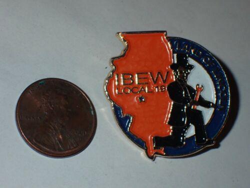 IBEW Collectible Lapel Pin Local 19 IL Land of Lincoln
