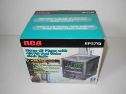 NEW In Box RCA RP3751 Stereo CD Player With AM/FM Dual Wake Alarm Clock Radio
