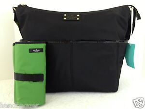KATE SPADE BASIC BLACK NYLON SERENA BABY BAG PERFECT DIAPER BAG WKRU1369 NWT