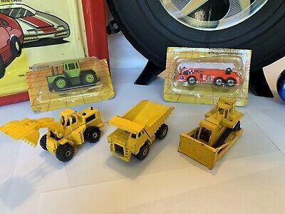 Vintage, 1979 Hot Wheels Workhorses Dump Truck Front Loaded Bull Dozer
