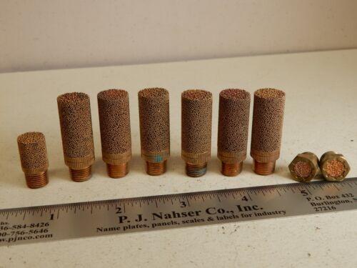 Sintered Brass Pneumatic Muffler Filters 1/8 NPT Qty 6 Plus++