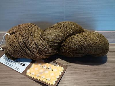 Sockenwolle Araucania Ranco PT 486 oliv-Töne handgefärbt 100g Fair Trade
