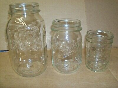 BALL MASON JARS WITH EMBOSSED FRUIT DESIGN CLEAR GLASS QUART/PINT/JELLY Pint Mason Jelly