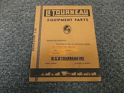 Letourneau Rd6 Angle Dozer Blade Type J Type N Power Control Unit Part Catalog