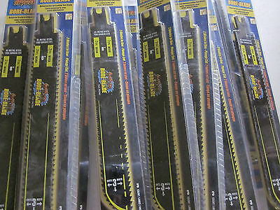 12pks 36 Saw Blades 72 Cutting Sides 8 Reciprocating Sawzall 7 7 Tpi Plunge