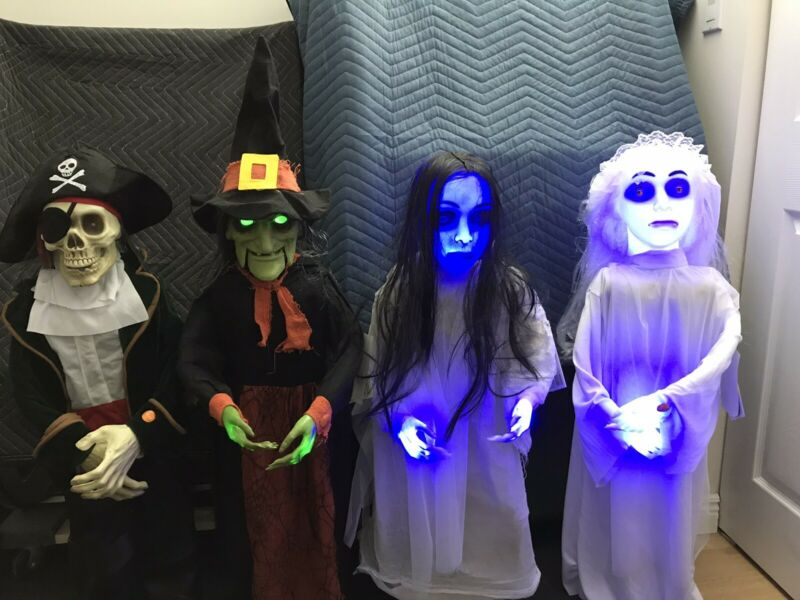Animated LED 3FT - Pirate, Witch, Haunted Girl, White Bride.
