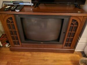 "Antique Custom Wood Framed 27"" Color TV For Sale"