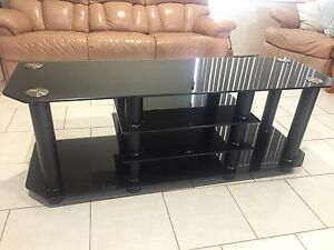 Solid Black Lowline Entertainment Unit Maryland Newcastle Area Preview