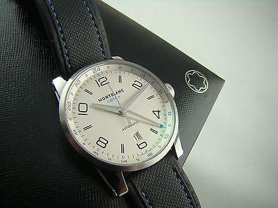 *NEW* Montblanc Men's Timewalker Steel Collection UTC Watch 42MM 109333 USA SE!